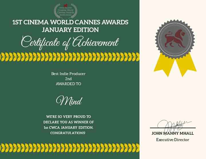 Awards and Selections certificates