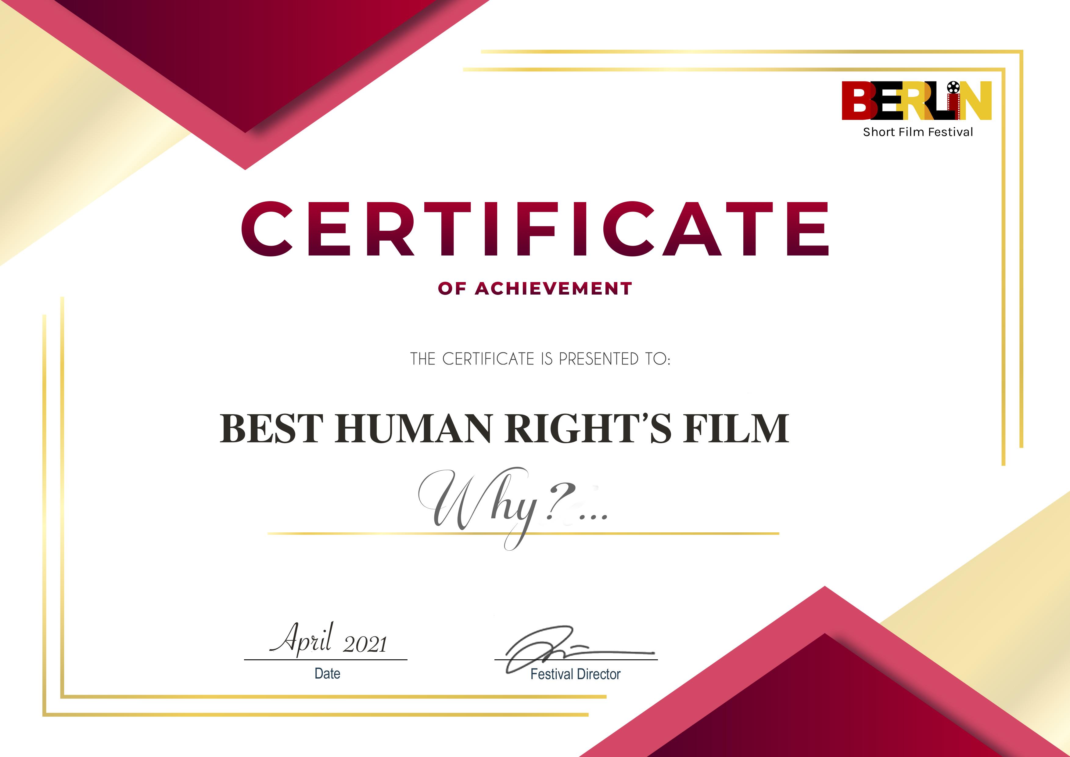 Best Human Rights Film