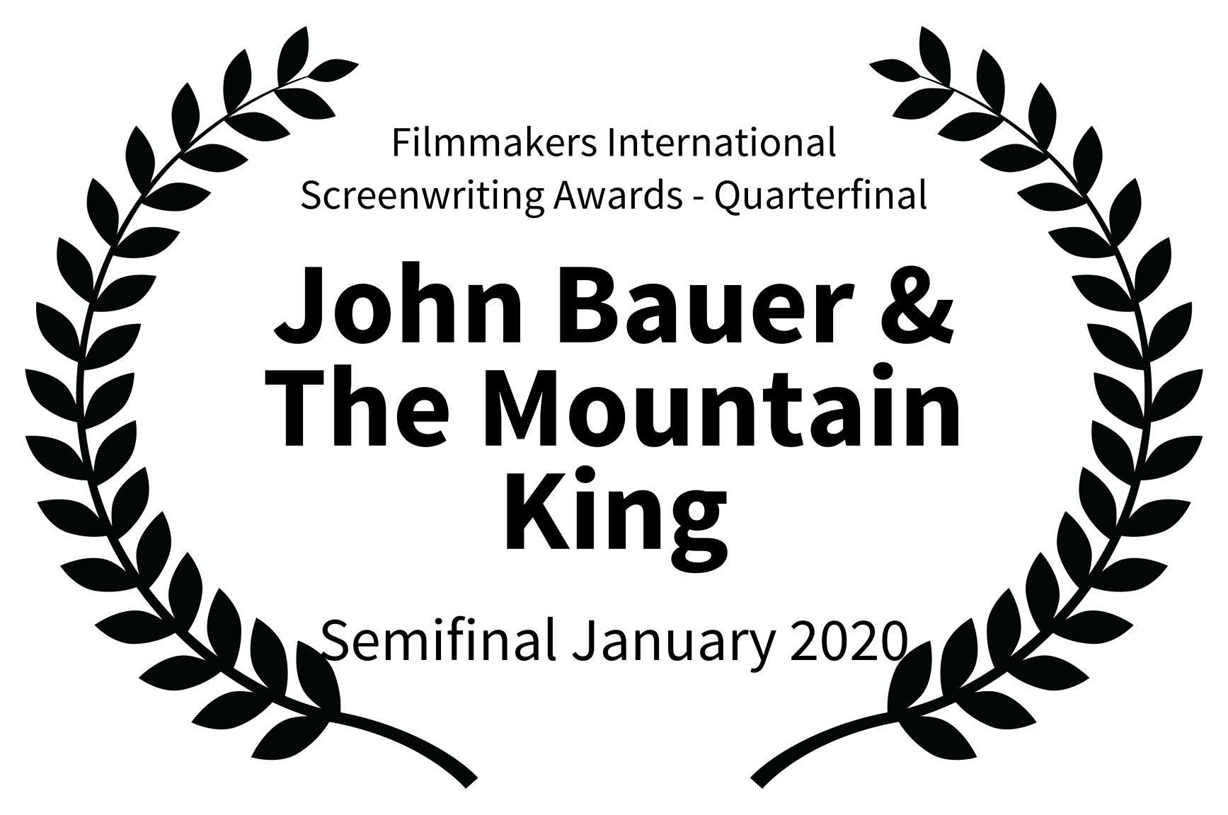 Filmmakers International Screenwriting Awards Finalist