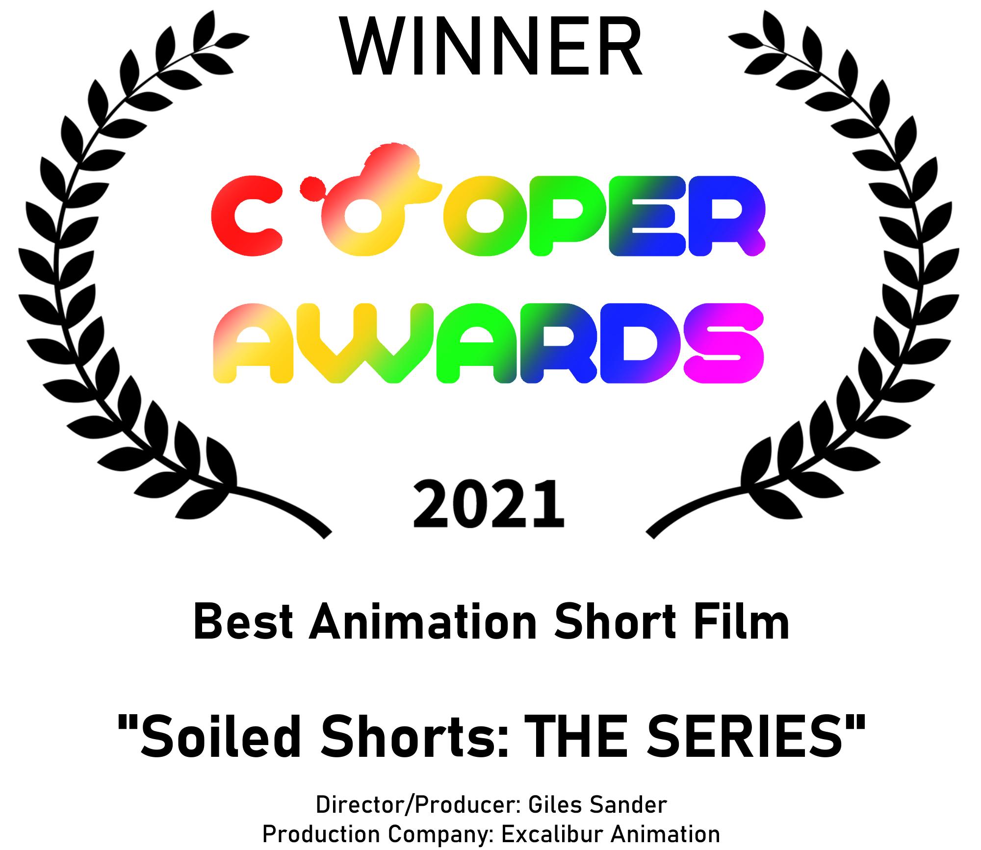 Winner for Best Animated Short Film - Cooper Awards 2021
