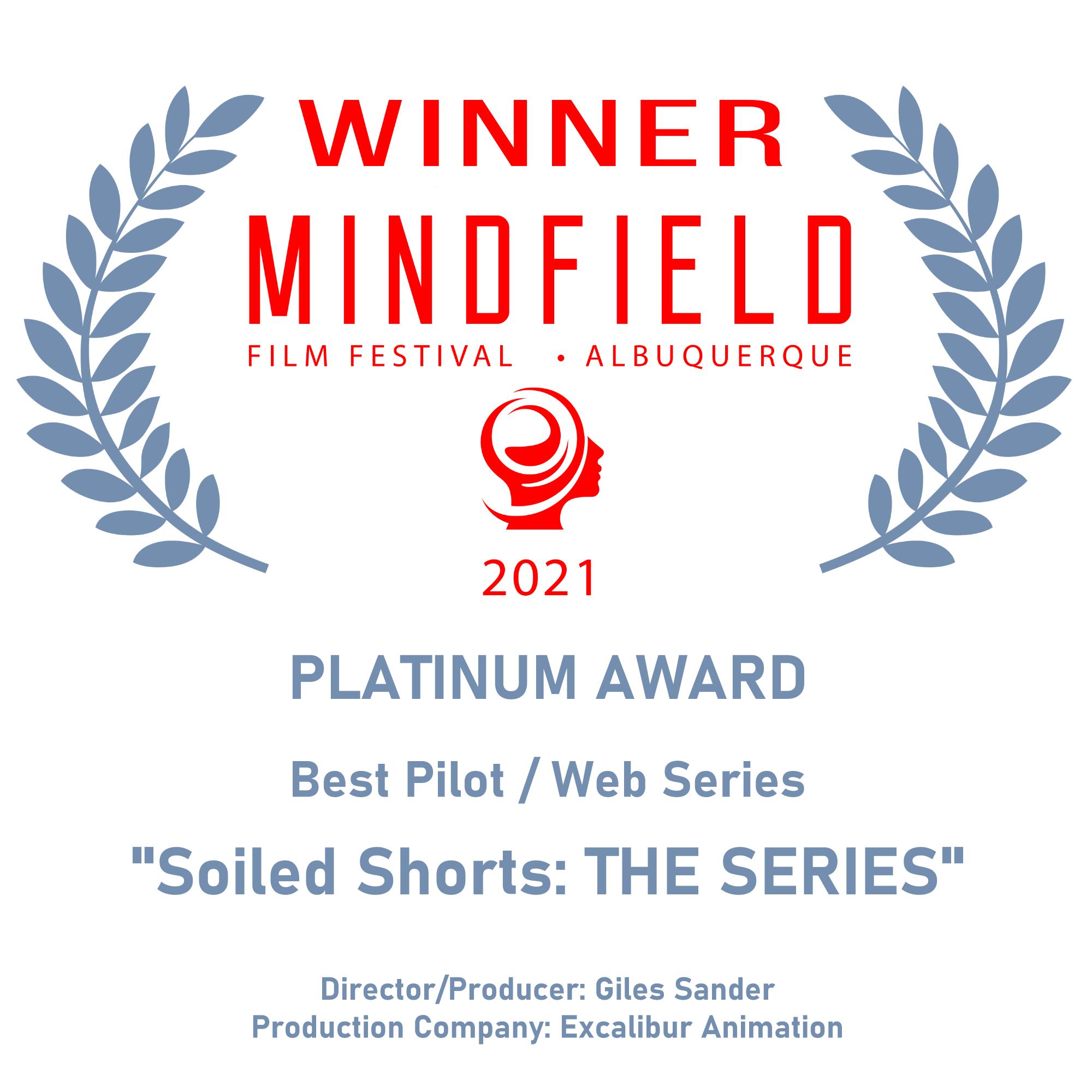 Winner - Platinum Award for Best Pilot/Web Series - Mindfield Film Festival 2021