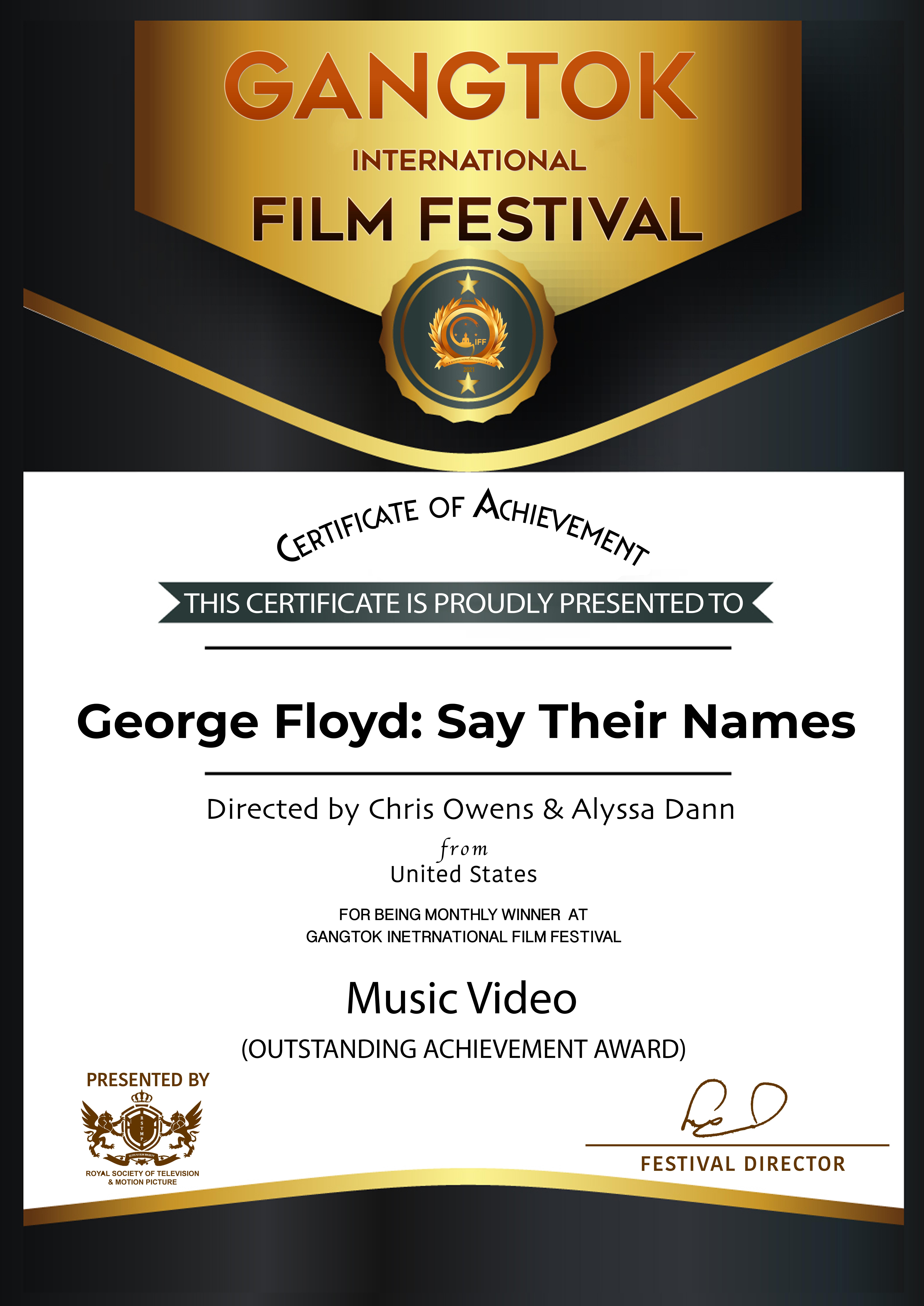 Winner - Gangtok International Film Festival