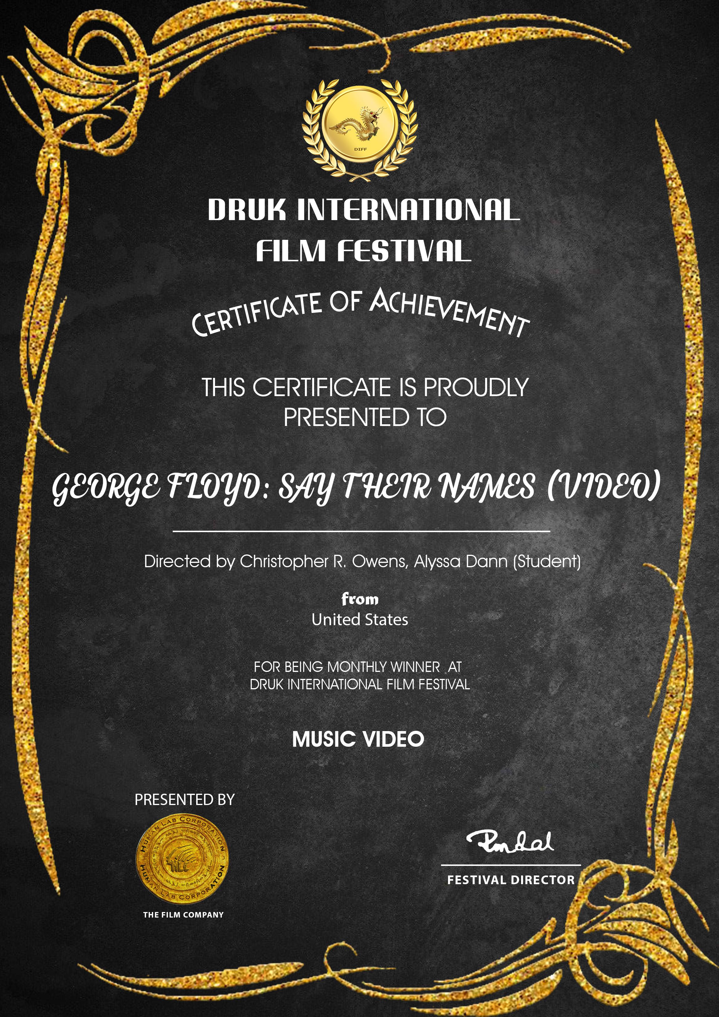 Winner - Druk International Film Festival