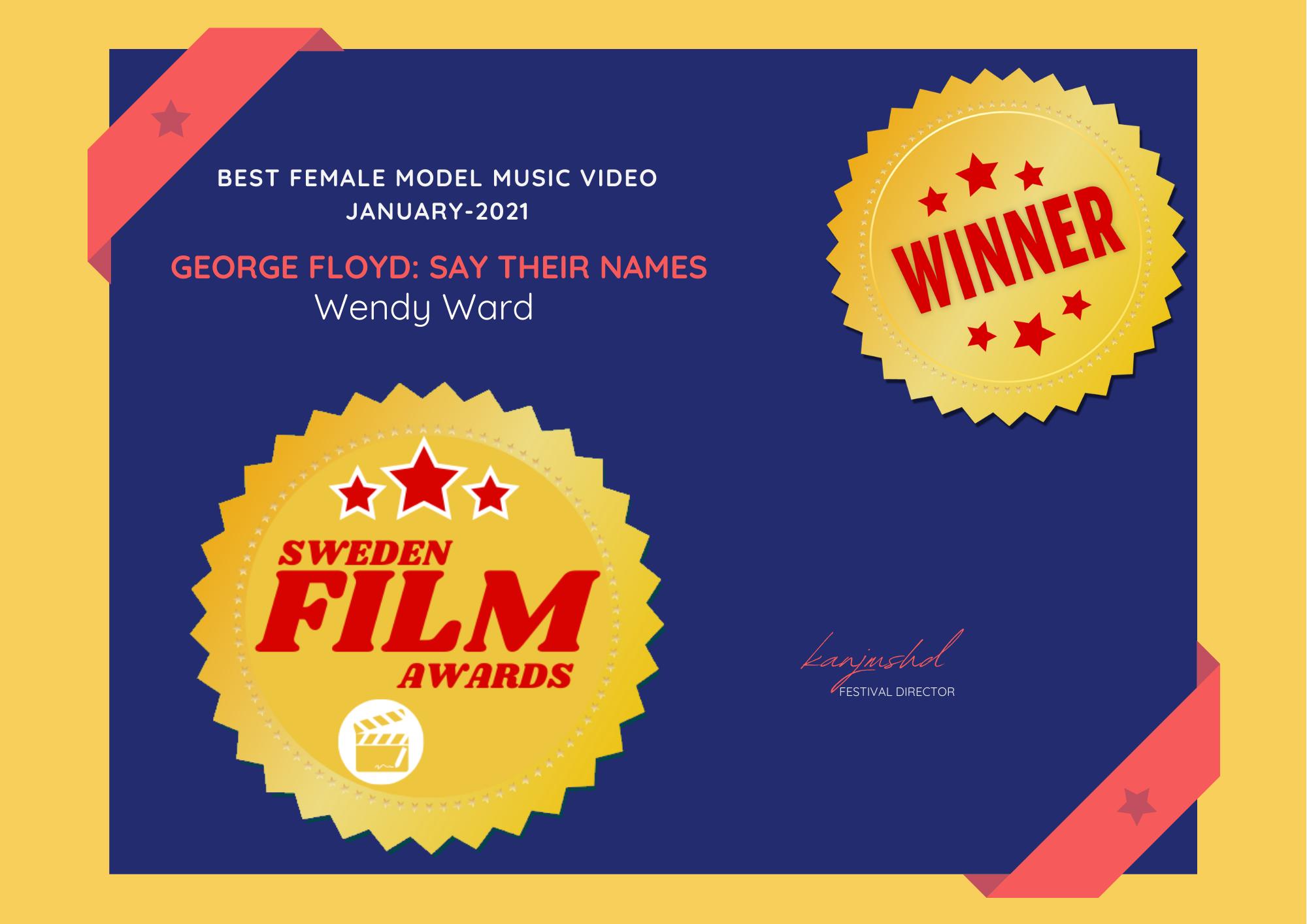 Winner - Sweden Film Awards (Best Female Model - Music Video)