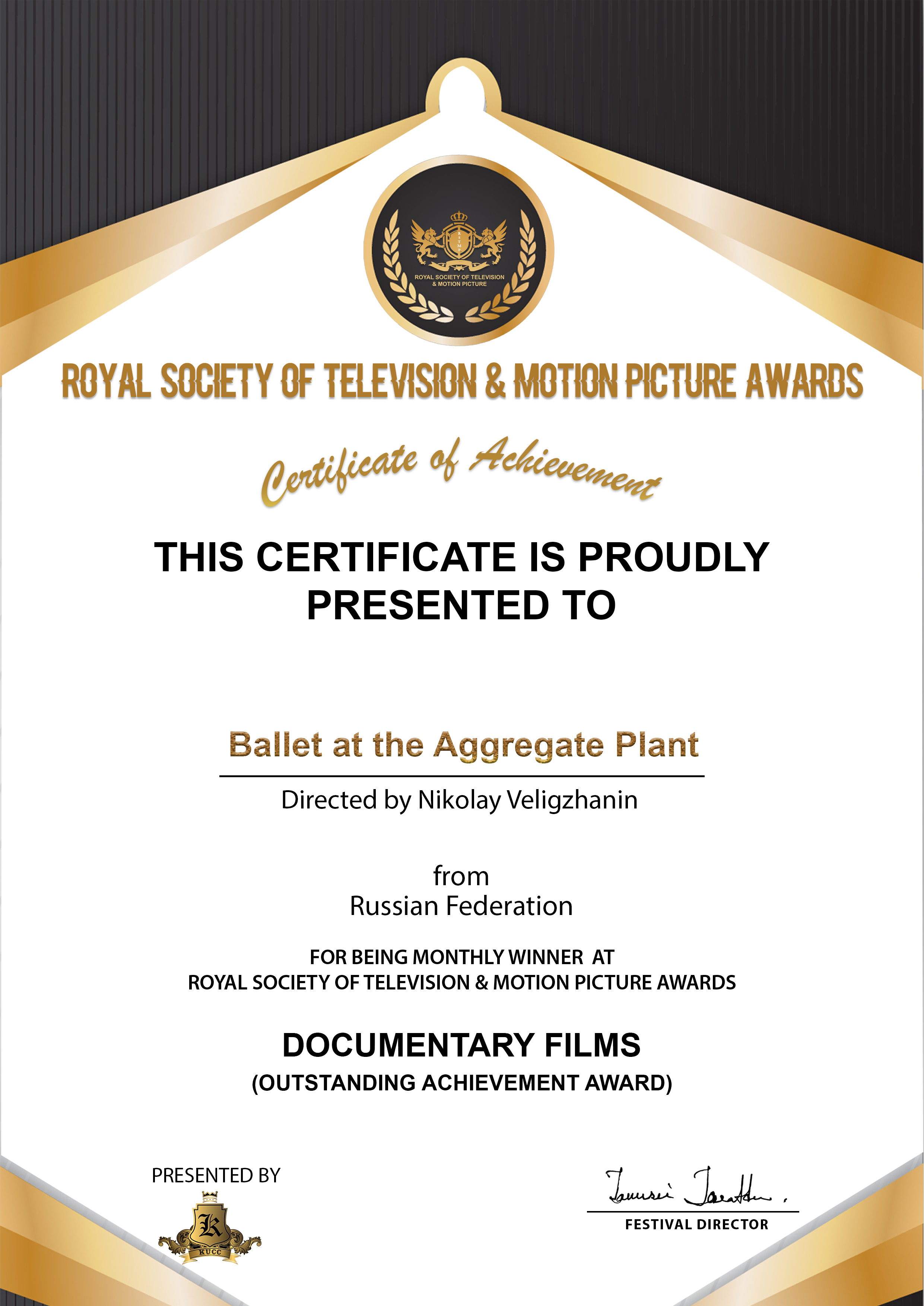 ROYAL SOCIETY OF TELEVISION & MOTION PICTURE AWARDS
